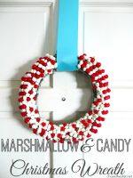 Happy Holidays: DIY Marshmallow & Candy Christmas Wreath