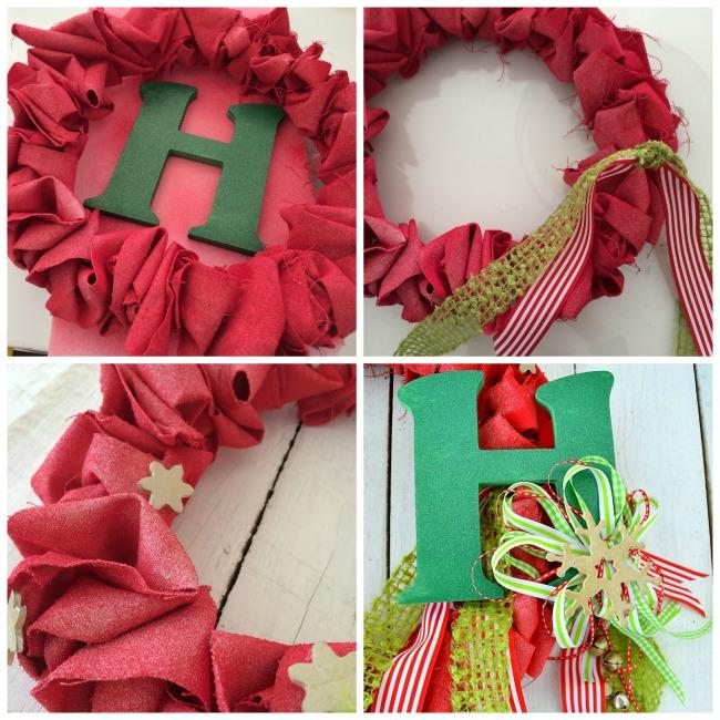 canvas ruffle wreath embellishments