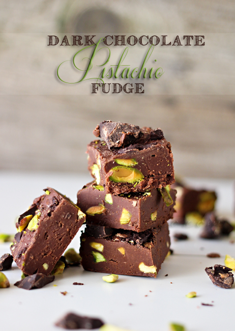 Happy Holidays: Dark Chocolate Pistachio Fudge -- Tatertots and Jello