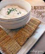Happy Holidays: Three Ingredient Veggie Dip
