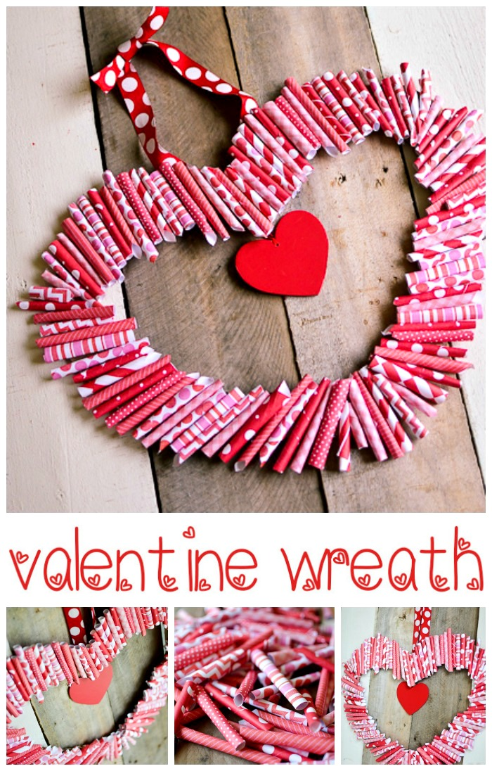 paper roll up valentine wreath tutorial tatertots and jello. Black Bedroom Furniture Sets. Home Design Ideas