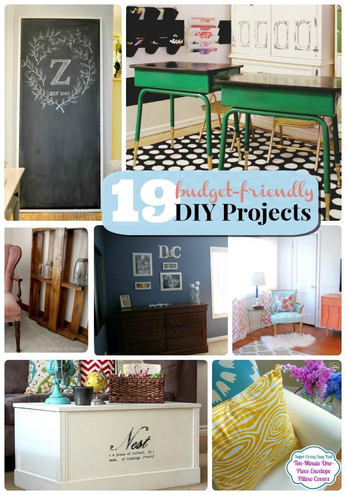 Budget Friendly Diy Home Decorating Ideas Tutorials 2017: Great Ideas -- 19 Budget-Friendly DIY Projects