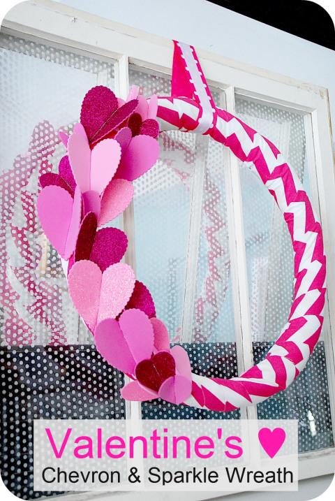 chevron sparkle wreath