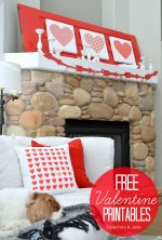 Valentine's Day Patterned Heart Printables #ShutterflyDecor
