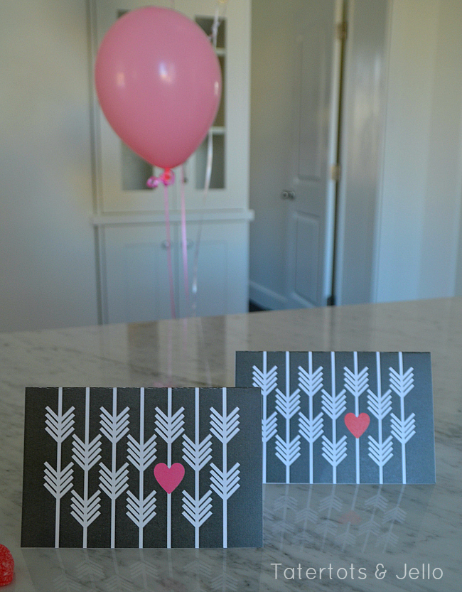 heart and arrow notecards