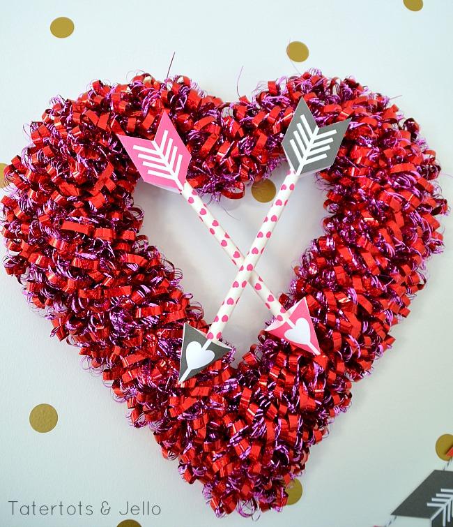 heart and arrows wreath