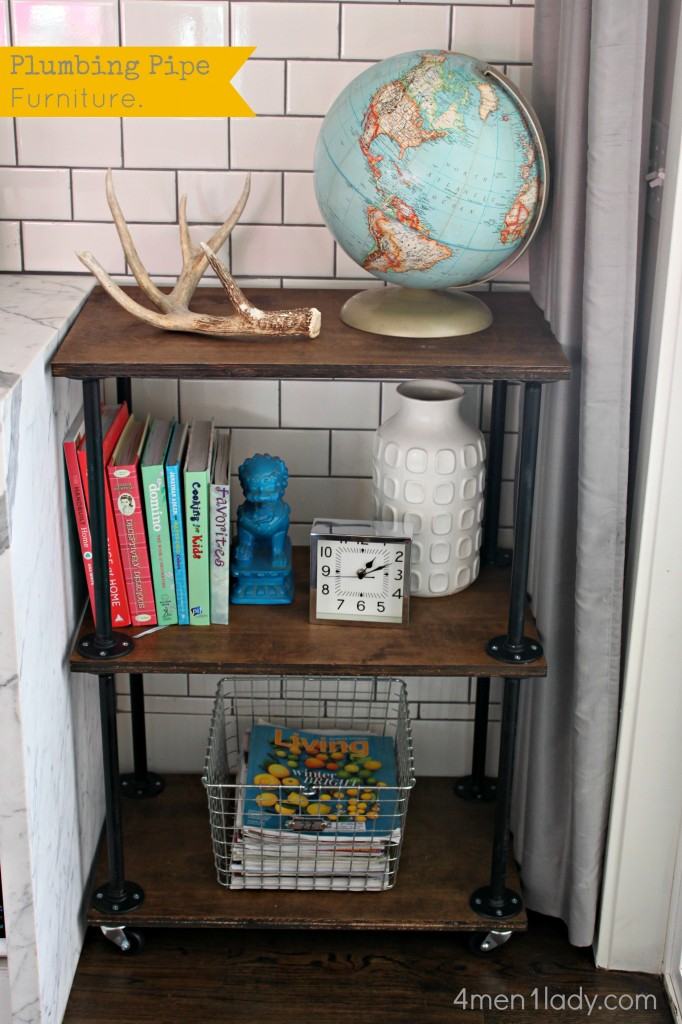 plumbing pipe bookcase