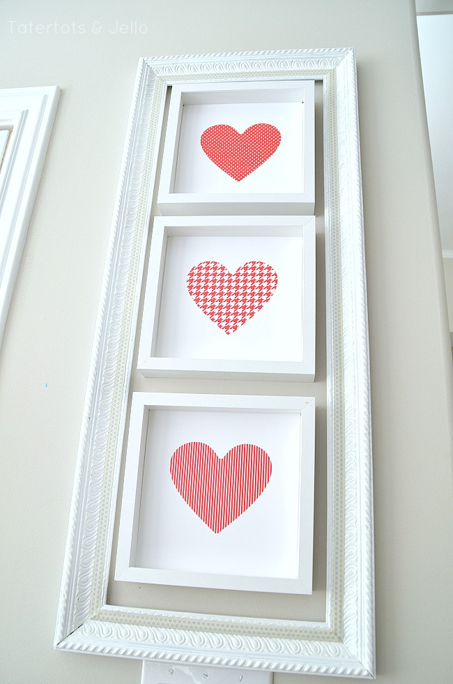 red and white heart printables