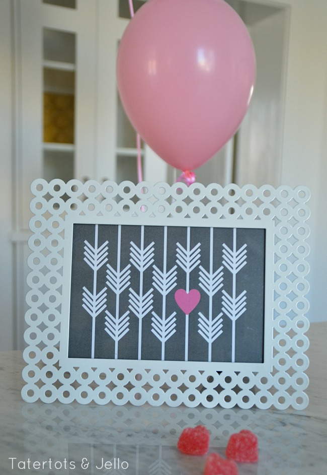 tatertots and jello printable hearts and arrows printable