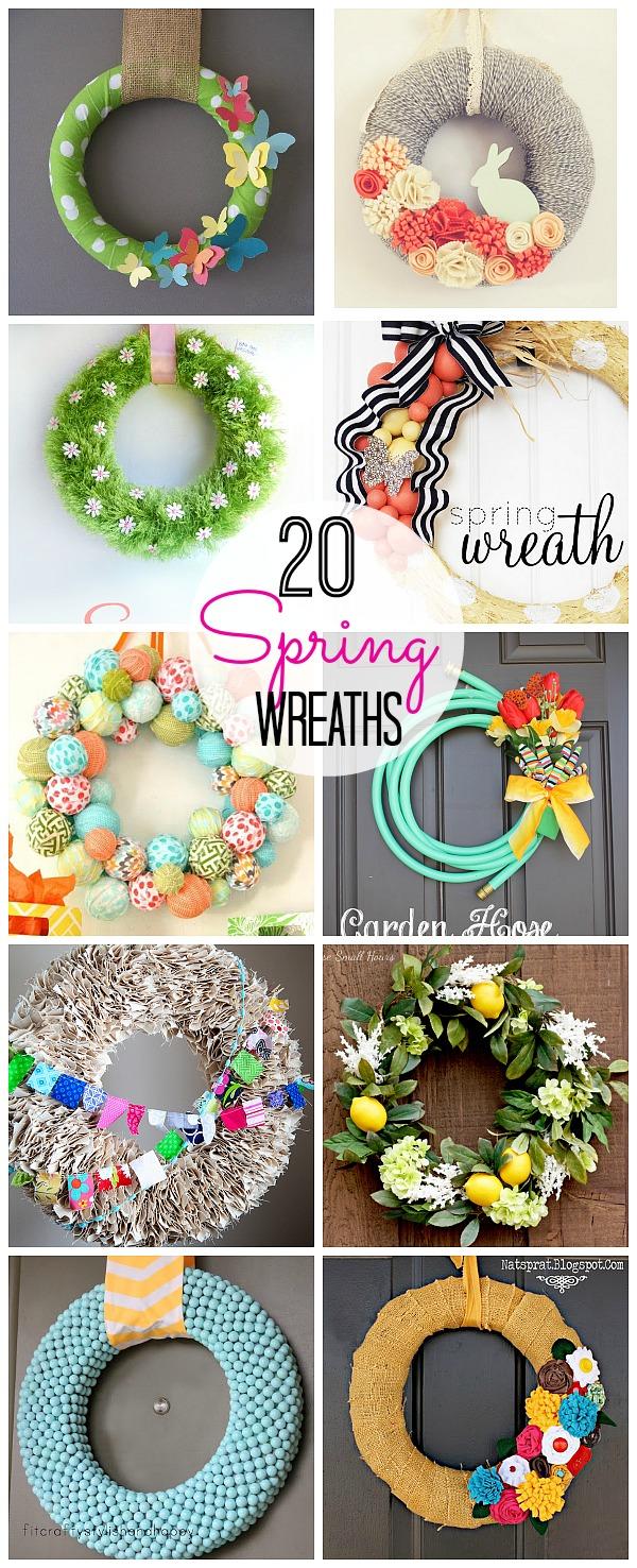 20 spring wreaths