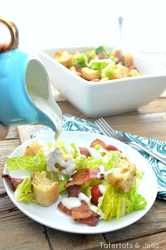 blt salad with omeamde ranch dressing recipe