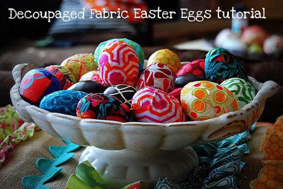 decoupage your pasic easter eggs