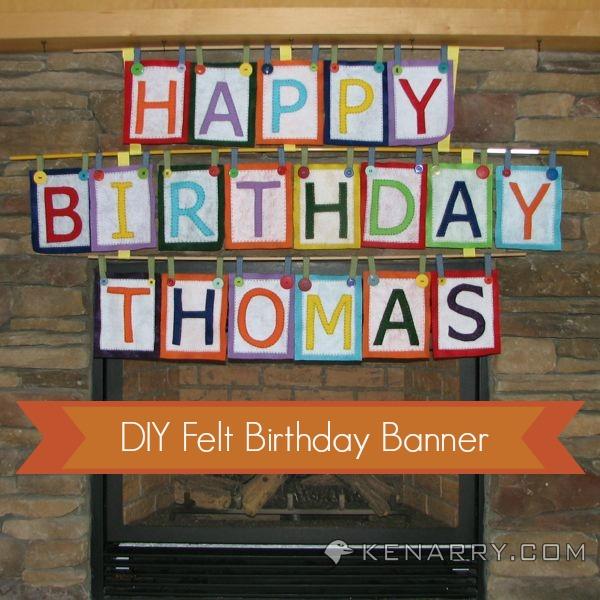 falt birthday banner tutorial at tatertots and jello