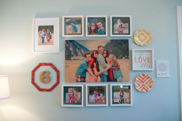 family frame wall master bedroom