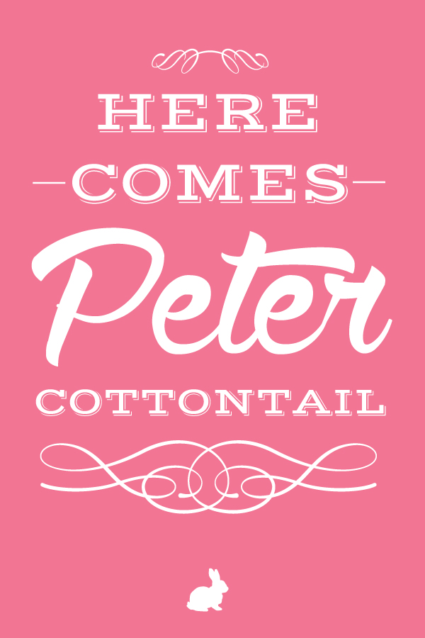 here.comes.peter.cottontail.20x30.pink.small