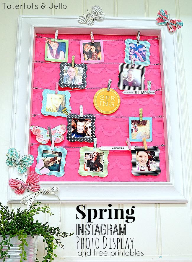 spring instagram photo display