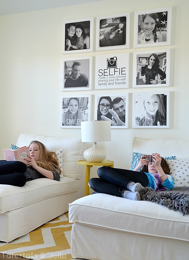 selfie tween teen instagram hangout wall diy