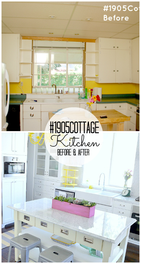 1905cottage kitchen before and after