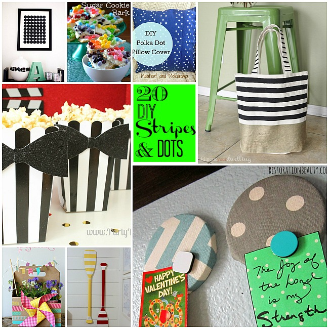 Great ideas 20 diy dots and stripes ideas for Dots and stripes party theme