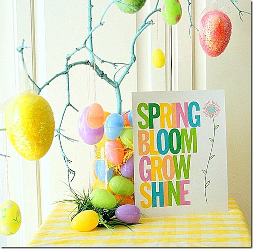 Colorful Spring Sign Free Printable