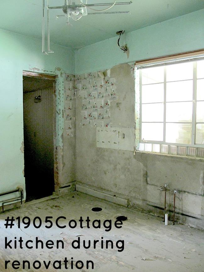cottage during renovation