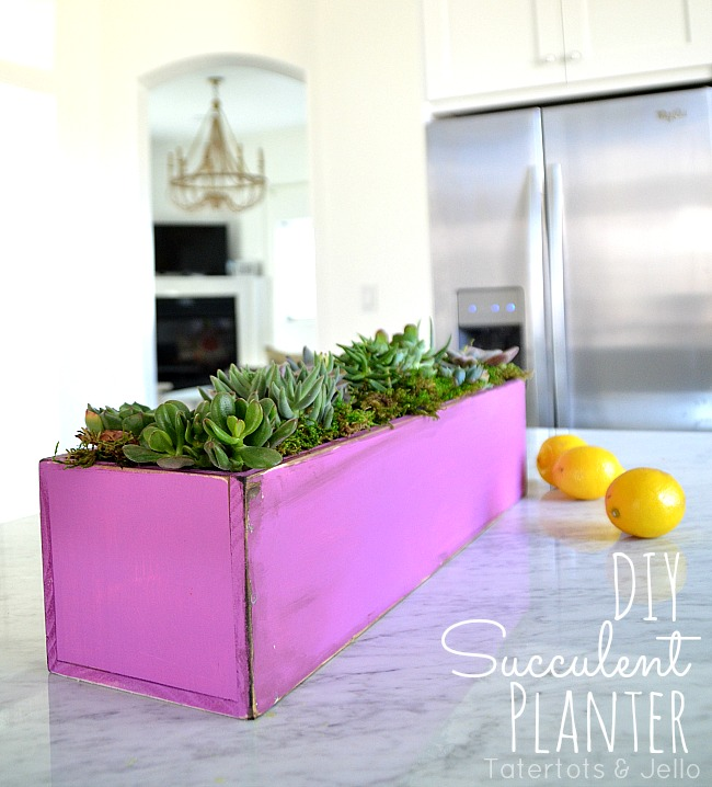 How To Bring Summer Vibes Into Your Home 6 Color Ideas: DIY Wooden Succulent Planter