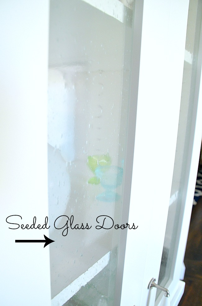 seeded glass cabinet doors for kitchen remodel