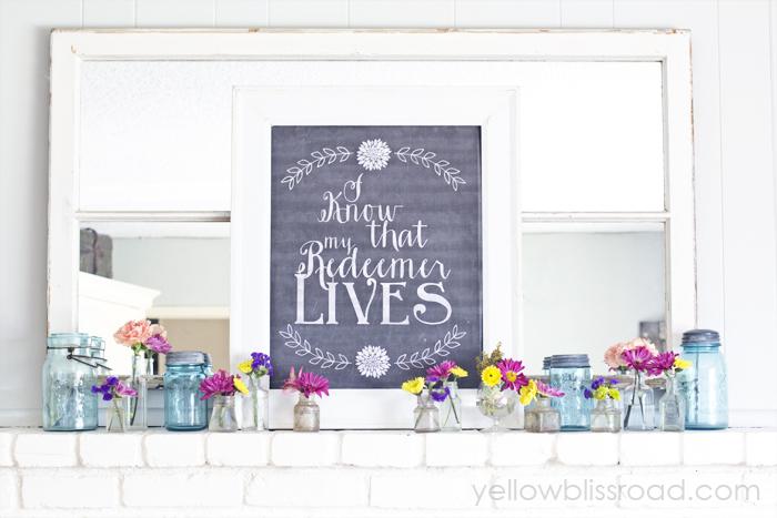 Free Spring Easter Chalkboard Sign