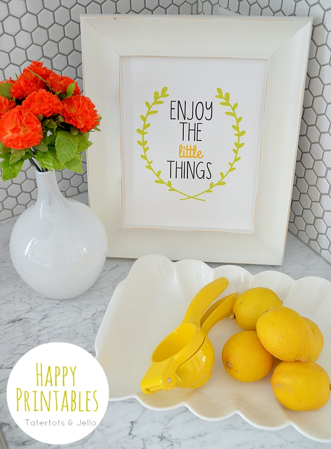 enjoy the little things free printable at tatertots and jello