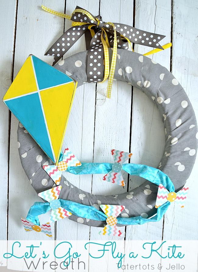 kite spring wreath