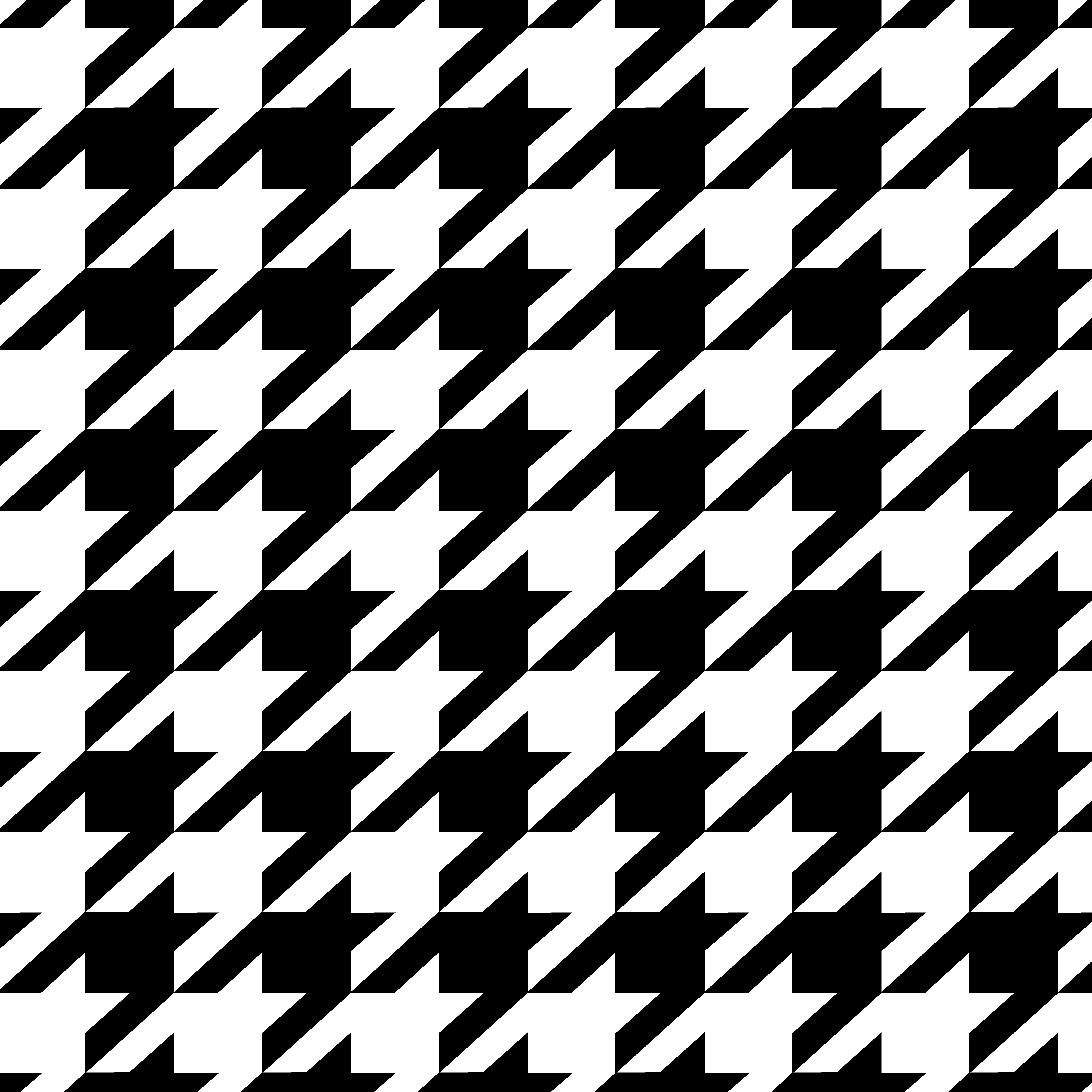 houndstooth - Black And White Design