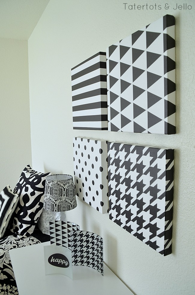 black and white decor ideas and free printables at tatertots and jello