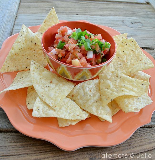 fresh homemade pico recipe at tatertots and jello