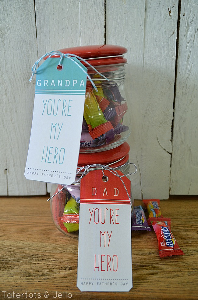 hero free father's day printables at tatertots and jello