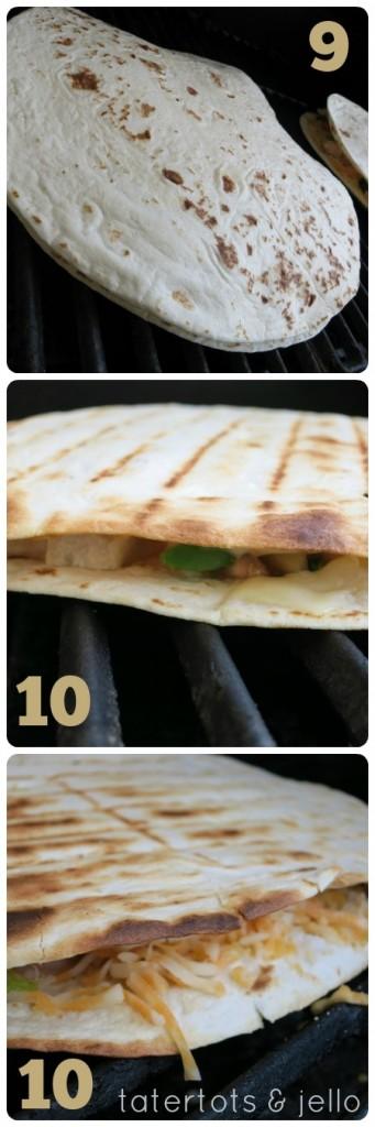 quesadilla steps 9 and 10