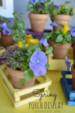 Spring Project – Spray Painted Crate Flower Display!