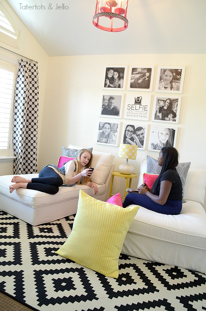 teen hangout room at tatertots and Jello