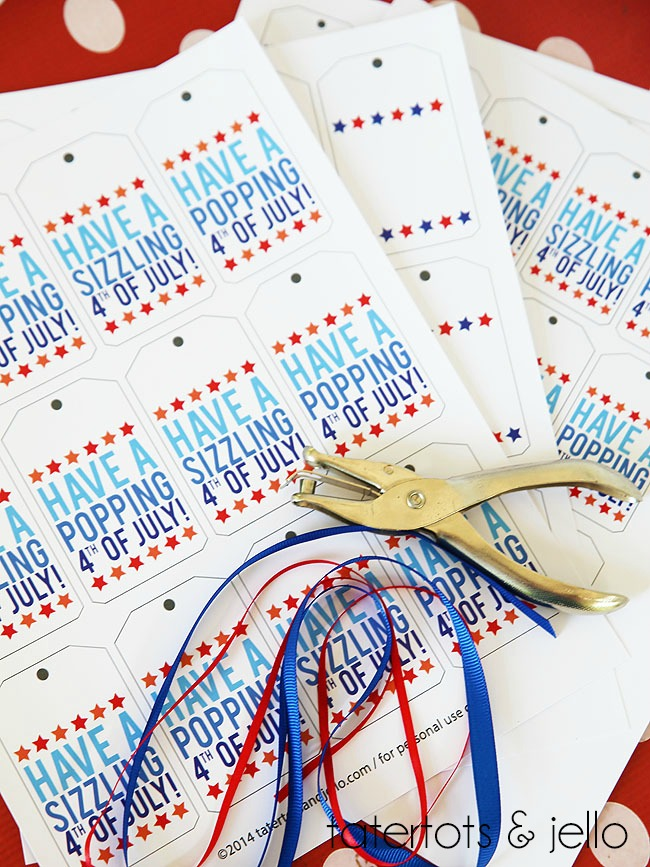 Fourth of July Popcorn Printable