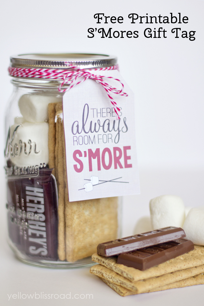 Free Printable S'Mores Gift Tag
