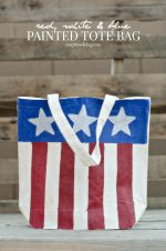 Red, White, and Blue Painted Tote Bag