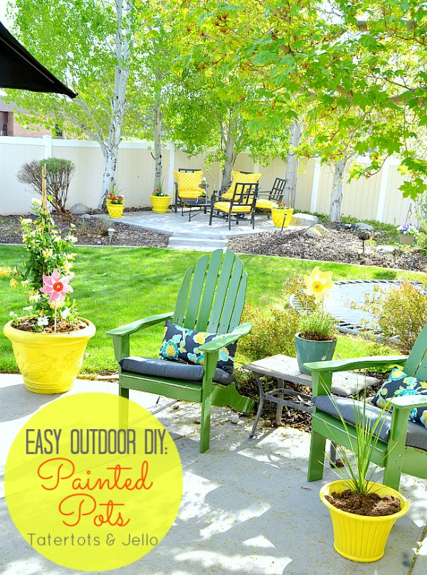 How to Spray Paint Outdoor Pots