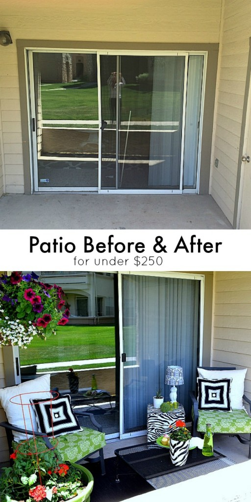 Before and after patio for Small porch decorating ideas on a budget