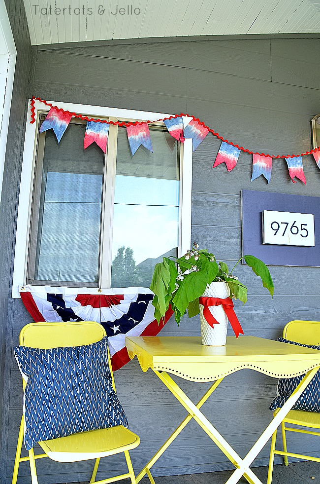patriotic tie dye banner tutorial at tatertots and jello