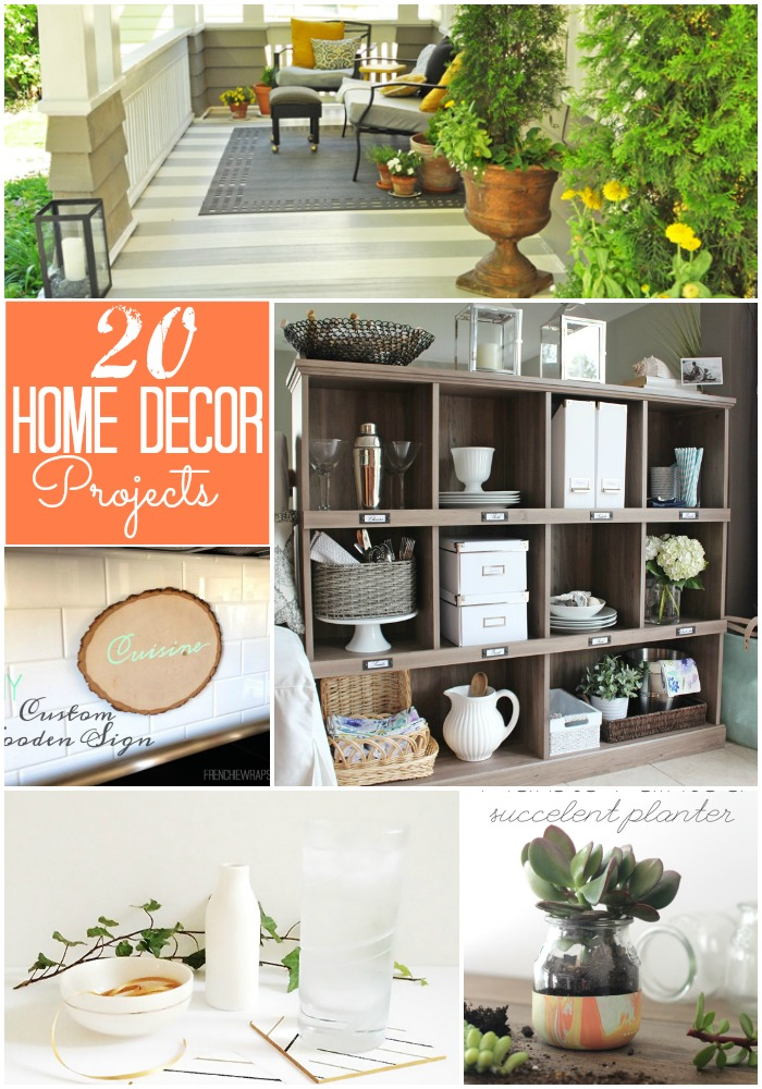 Great ideas 20 diy home decor projects for Home by decor