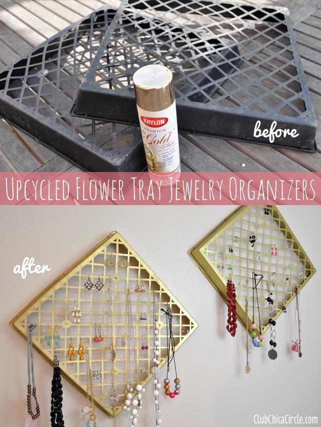 Jewelry-organizer-DIY-upcycled-from-flower-baskets