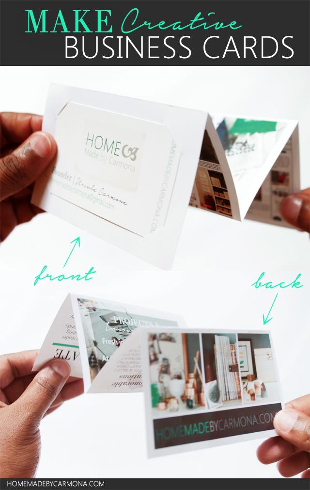 Make Creative Accordion fold Business Cards