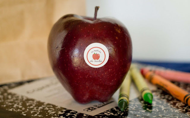 back to school apple stickers