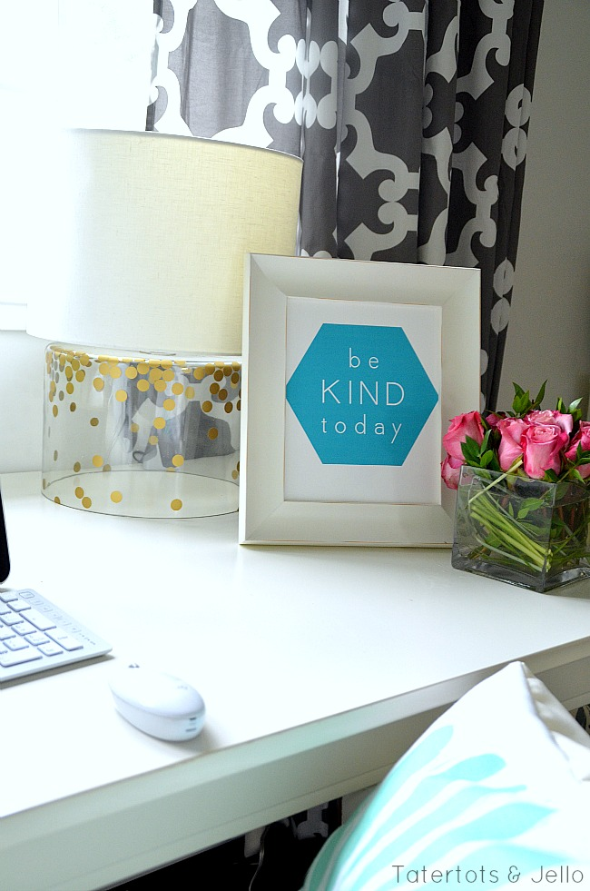 be kind today and choose happy free geometric printables