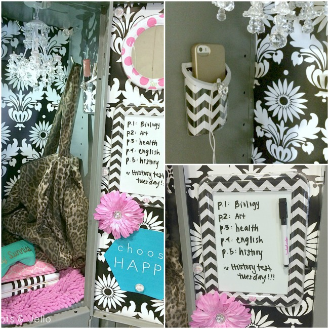 Fit Crafty Stylish And Happy Guest Bathroom Makeover: Back To School Locker Decorating! -- Tatertots And Jello