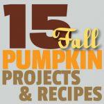 Great Ideas — 15 Autumn Pumpkin Projects & Recipes!